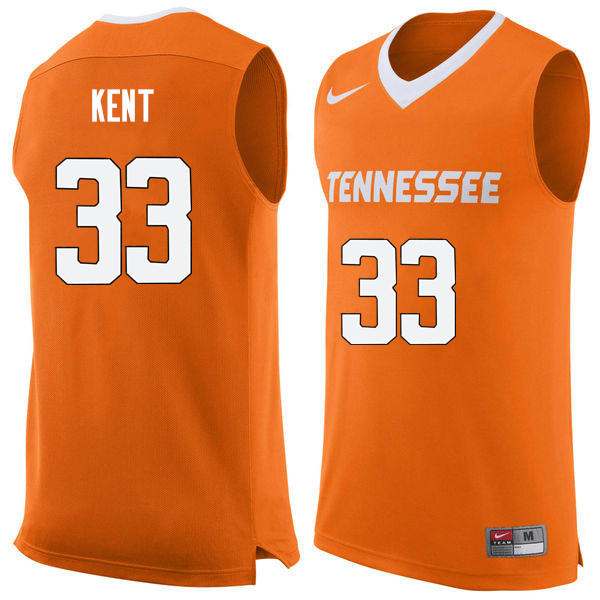 Men #33 Zach Kent Tennessee Volunteers College Basketball Jerseys Sale-Orange
